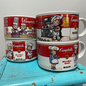 Vintage 1997 (4) Set of Campbell's Soup Mugs